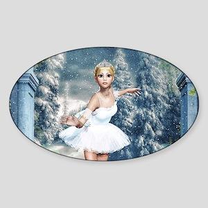 Snow Princess Nutcracker Ballerina Sticker