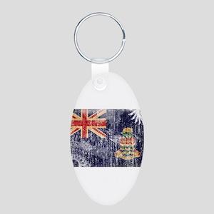 Cayman Islands Flag Aluminum Oval Keychain
