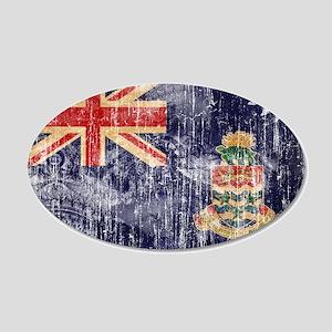 Cayman Islands Flag 22x14 Oval Wall Peel