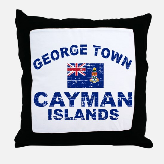 George Town Cayman Islands designs Throw Pillow
