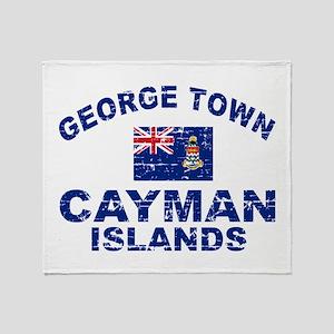 George Town Cayman Islands designs Throw Blanket