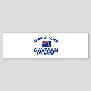 George Town Cayman Islands designs Sticker (Bumper