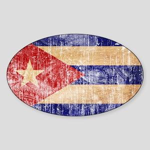 Cuba Flag Sticker (Oval)