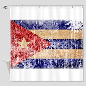 Cuba Flag Shower Curtain