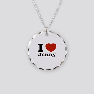 I love Jenny Necklace Circle Charm