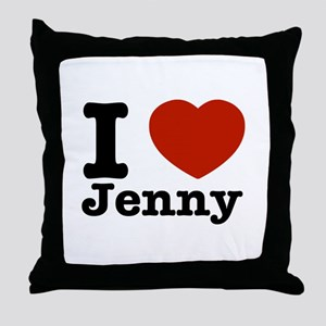 I love Jenny Throw Pillow