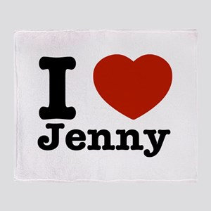 I love Jenny Throw Blanket