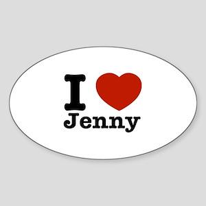 I love Jenny Sticker (Oval)