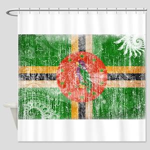 Dominica Flag Shower Curtain