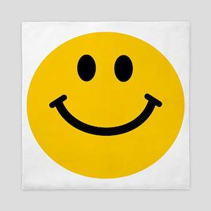 Yellow Smiley Face Queen Duvet