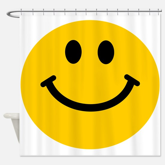 Yellow Smiley Face Shower Curtain