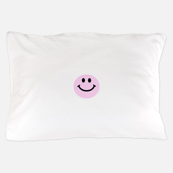 Pink Smiley Face Pillow Case