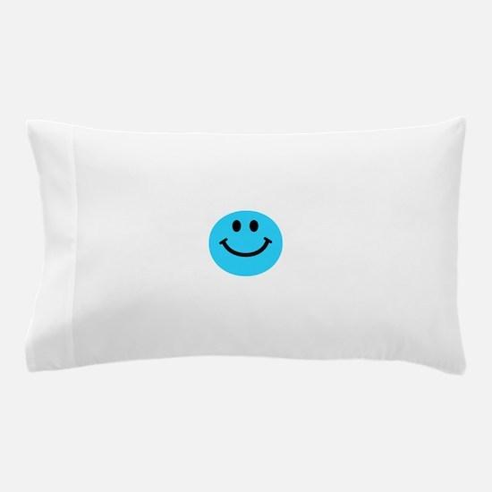 Blue Smiley Face Pillow Case