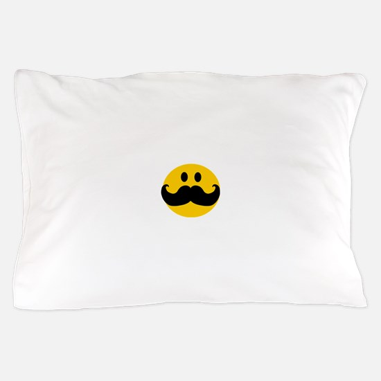 Mustached Smiley Pillow Case