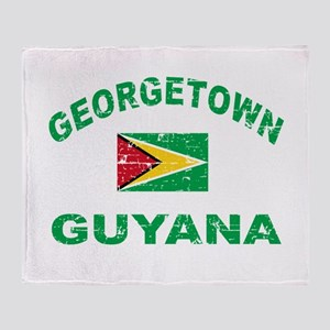 George Town Guyana designs Throw Blanket