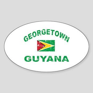 George Town Guyana designs Sticker (Oval)