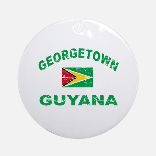 George Town Guyana designs Ornament (Round)