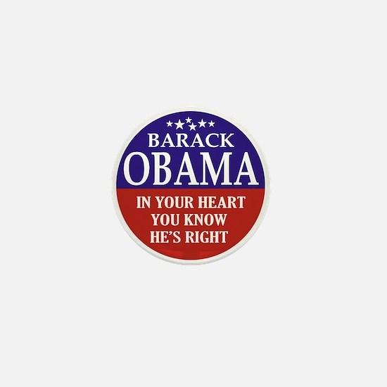 Obama - You Know He's Right Mini Button