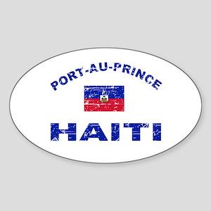Port-Au-Prince Haiti designs Sticker (Oval)