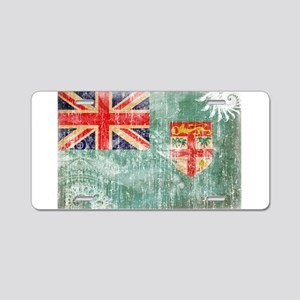 Fiji Flag Aluminum License Plate
