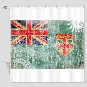 Fiji Flag Shower Curtain