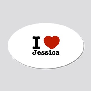 I love Jessica 22x14 Oval Wall Peel