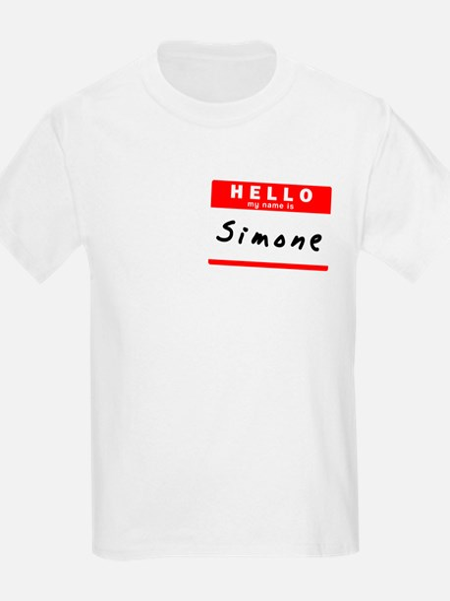 Simone, Name Tag Sticker T-Shirt