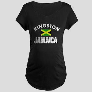 Kingston Jamaica designs Maternity Dark T-Shirt