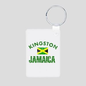Kingston Jamaica designs Aluminum Photo Keychain