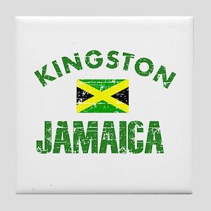 Kingston Jamaica designs Tile Coaster