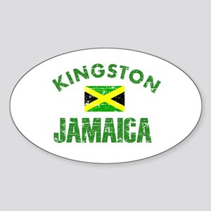 Kingston Jamaica designs Sticker (Oval)