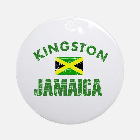 Kingston Jamaica designs Ornament (Round)