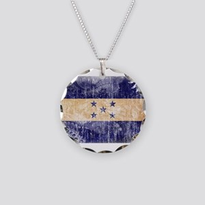 Honduras Flag Necklace Circle Charm