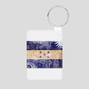 Honduras Flag Aluminum Photo Keychain