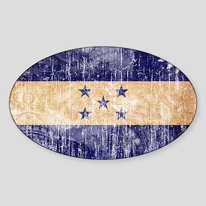 Honduras Flag Sticker (Oval)