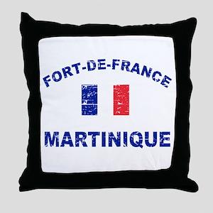 Fort De France Martinique designs Throw Pillow