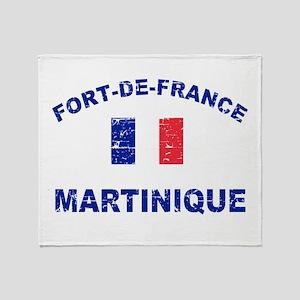 Fort De France Martinique designs Throw Blanket