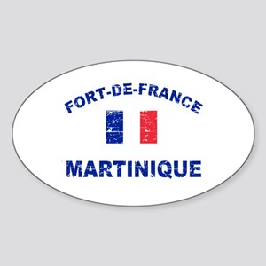 Fort De France Martinique designs Sticker (Oval)