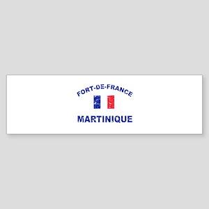 Fort De France Martinique designs Sticker (Bumper)