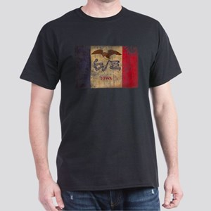 Iowa Flag Dark T-Shirt