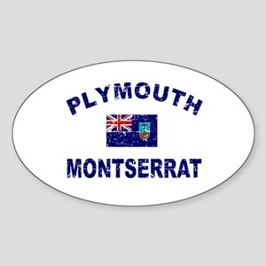 Plymouth Montserrat designs Sticker (Oval)