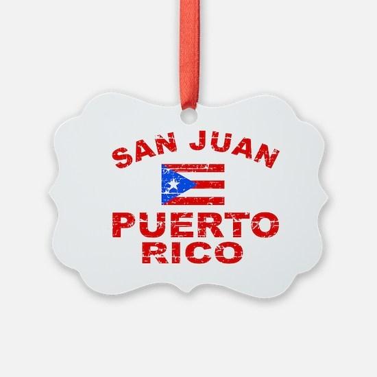 San Juan Puerto Rico designs Ornament