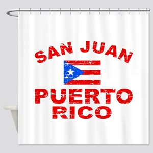 San Juan Puerto Rico designs Shower Curtain