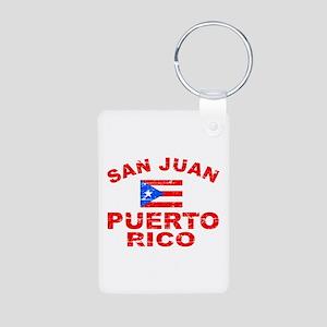 San Juan Puerto Rico designs Aluminum Photo Keycha