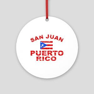 San Juan Puerto Rico designs Ornament (Round)