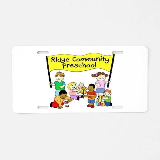 Ridge Community Preschool Aluminum License Plate