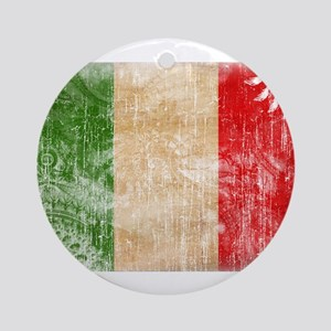 Italy Flag Ornament (Round)