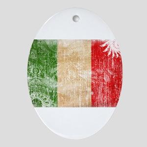Italy Flag Ornament (Oval)