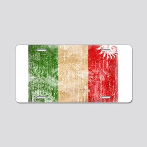 Italy Flag Aluminum License Plate