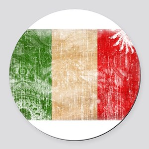 Italy Flag Round Car Magnet